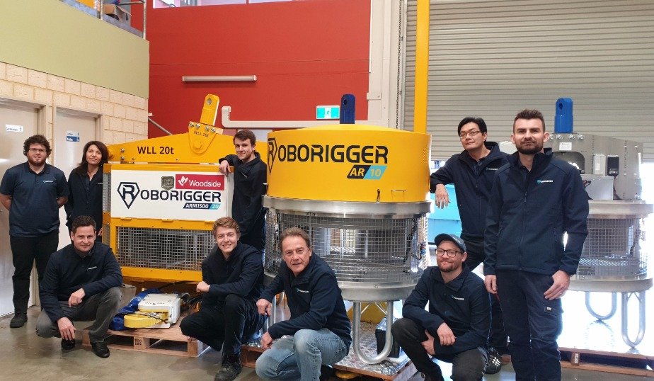 roborigger, automated lifting device, wireless load orientation